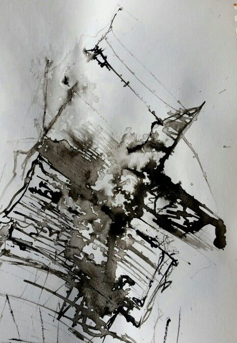 Inner space  Ink on paper by Anne Marie Tangen Galleri Tangen on facebook