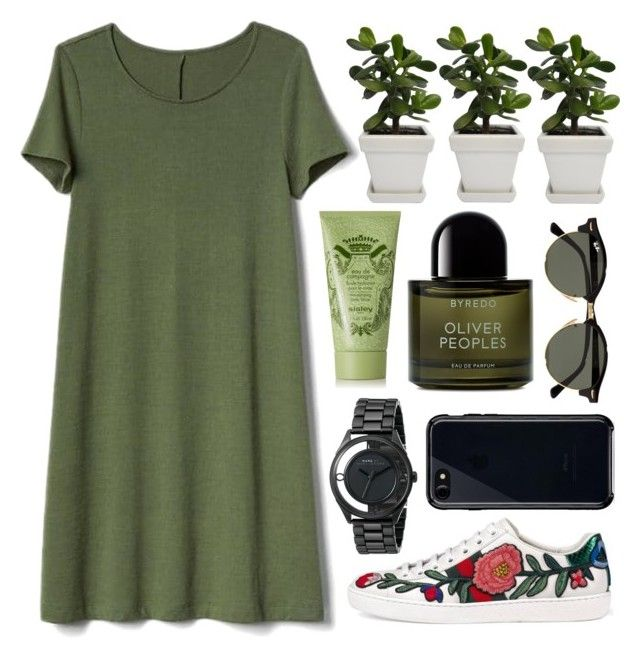 """Greenie #48589"" by flowersfordinner ❤ liked on Polyvore featuring Gap, Gucci, Ray-Ban, Belkin, Marc by Marc Jacobs, Sisley and Byredo"