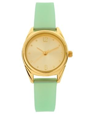 watch: Pastel Jelly, Colors Combos, Mintgreen, Mint Green, Mint Gold, Gold Watches, Mint Colors, Jelly Watches, Mint Watches
