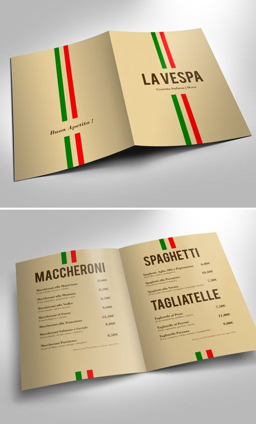 Best Menus Images On   Brochure Design Brochures And