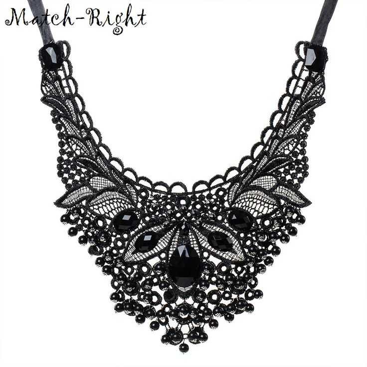 Gothic Black Flower Statement Necklace For Women //Price: $13.49 & FREE Shipping //     #shopping #styles