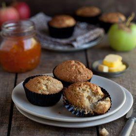 Apple+and+cinnamon+muffins