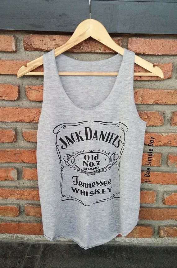 Hey, I found this really awesome Etsy listing at https://www.etsy.com/listing/237274268/grey-jack-daniels-tank-top-hipster-tank