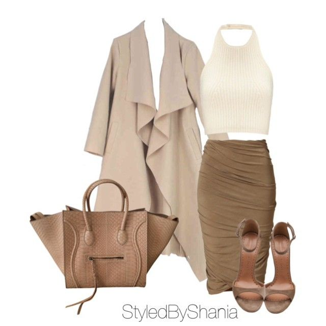#ShareIG Coat: Unknown , Top: Whistles , Skirt: DKNY, Bag: Cèline , Shoes: Alexa Wagner .