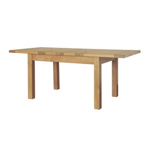 Rustic Solid Oak SRDT07 4ft 6in Extending Table  www.easyfurn.co.uk