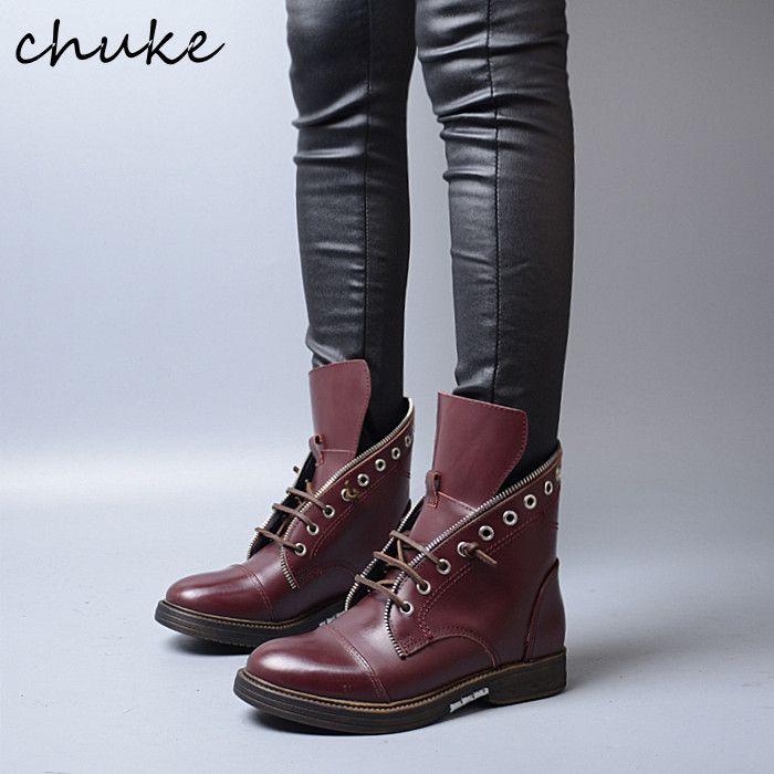 Мода Квартира С Зашнуровать Casual Стиль Челси Сапоги Скольжения На Круглый Носок Высокие Верхние Ботинки Для Нейтральные Женщины