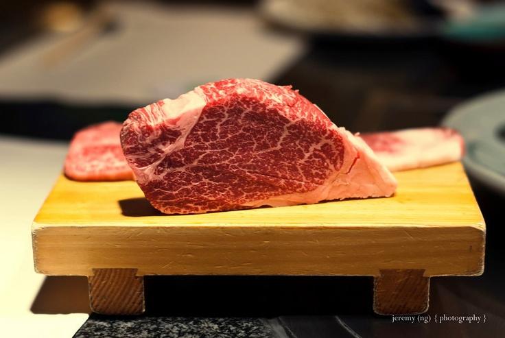 Kobe beef...look at that marbling