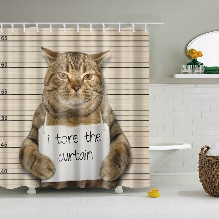 15 cat shower curtain ideas