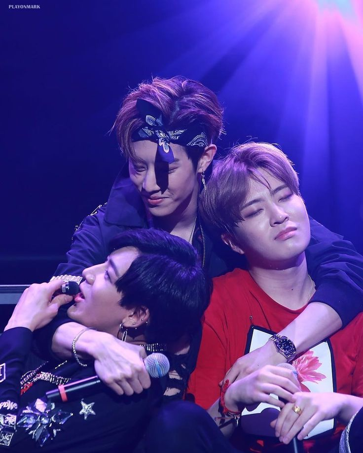 BamBam, Mark, and Youngjae