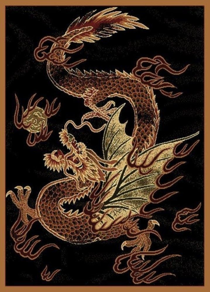 Indoor Area Rug Dragon Novelty Flooring Carpet Rectangle Hallway Decor 5 x 7 ft. #UnitedWeaversofAmerica #Modern