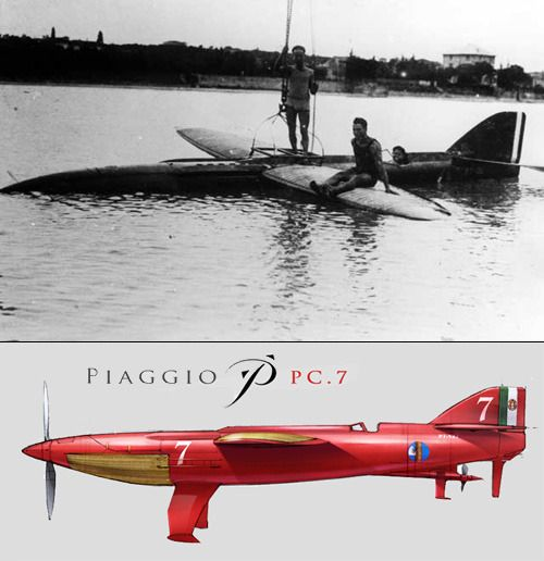 Schneider Trophy special: Cowes, 1929  The oddest and most unconventional contender - probably for any aerial competition - was the Piaggio-Pegna PC.7. Instead of floats, Piaggio went with hydrofoils - hoping this would reduce drag and weight.  The...