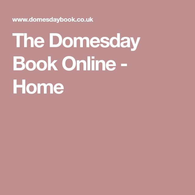 The Domesday Book Online - Home