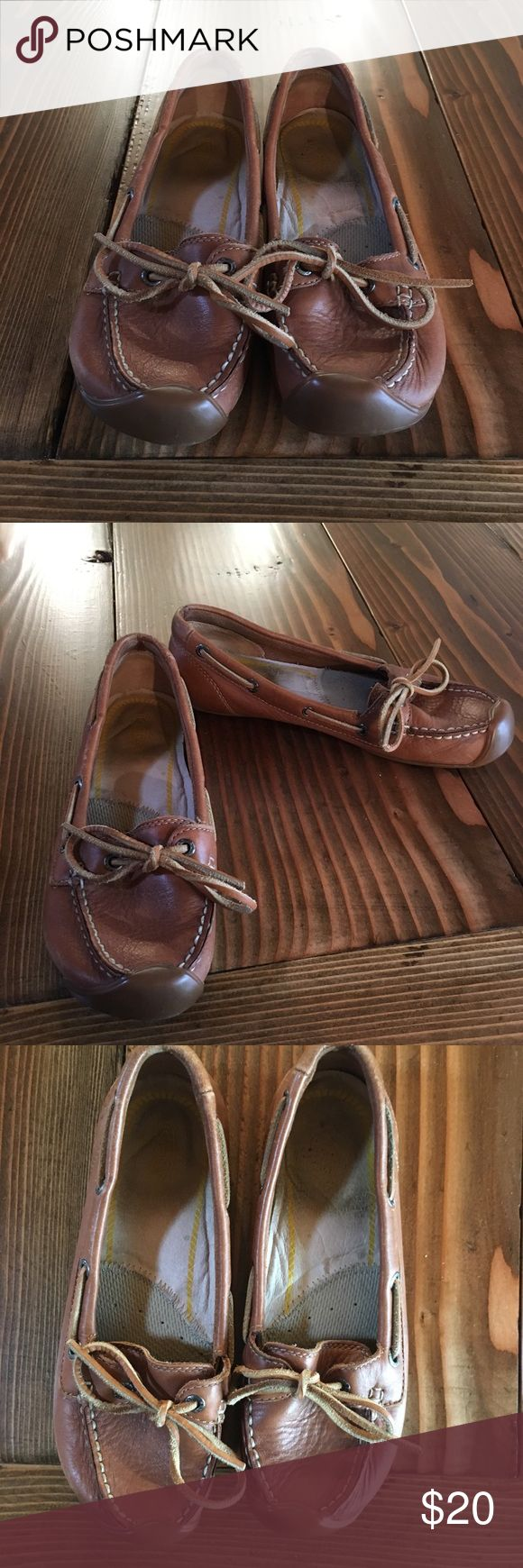 Keen Catalina Tan Leather Boat Shoe Good used condition Keen Catalina Boat Shoe. Keen makes great quality shoes so these still have a lot of life left in them. Super comfortable! Keen Shoes Flats & Loafers