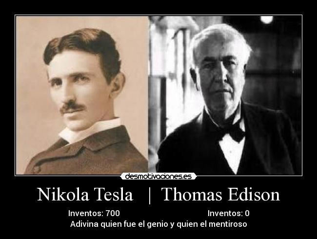 a history of thomas alva edison and tesla Tesla had expected that edison, being such a great inventor, would perfectly understand and accept the concept of development of alternate currents devices and systems as a more convenient solution for production, transmission, distribution and use of electric energy.