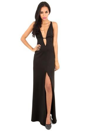Rihanna style black dress