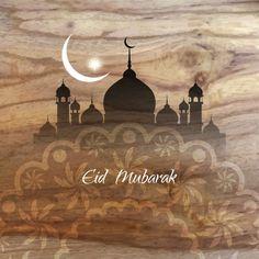 Fondo religioso de eid mubarak Vector Gratis