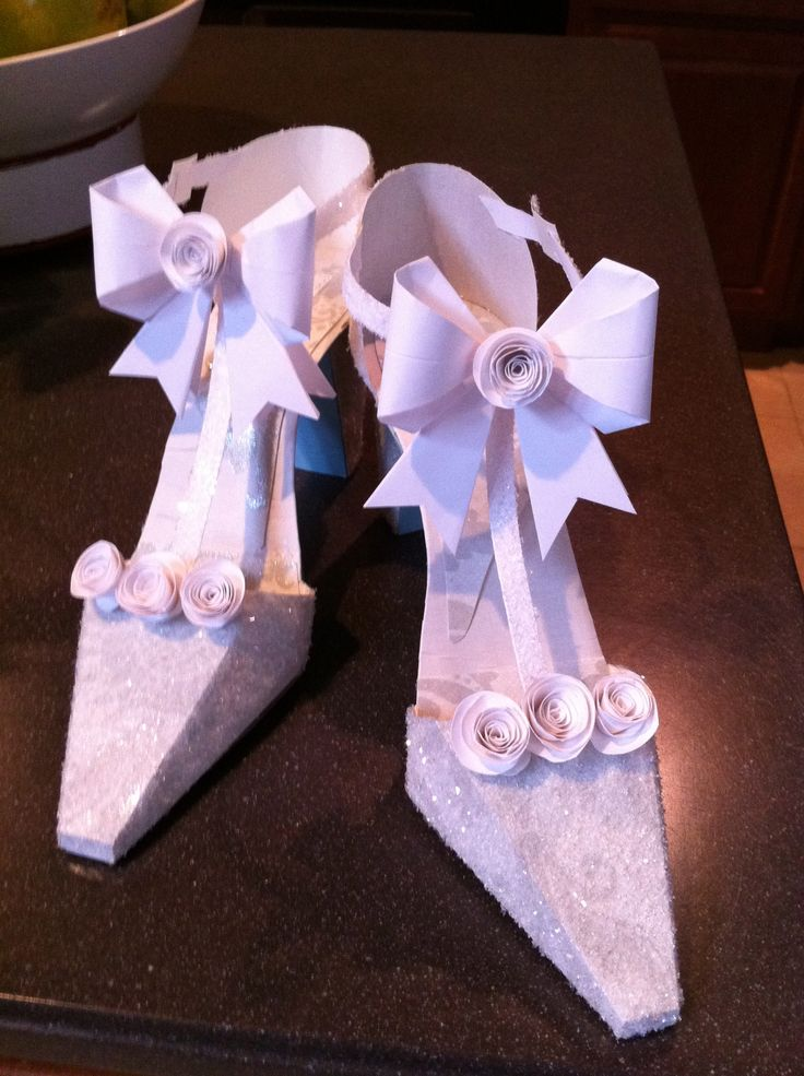 high heel shoe template craft - paper shoes for the bride table crafts on a budget