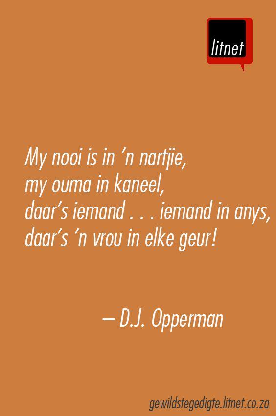 DJ Opperman #afrikaans #gedigte #nederlands #segoed #dutch #suidafrika
