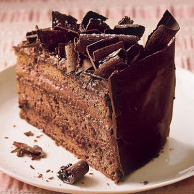 Irish Food: Irish Cream Chocolate Mousse Cake. Irish recipes and Irish ...