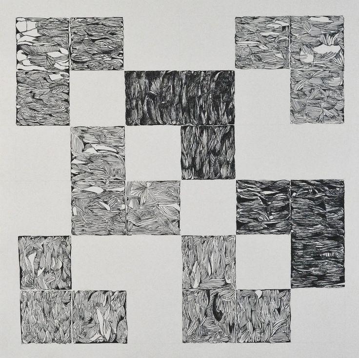 Composition pour carres1 / Dominique Lutringer #ART #Contemporary ART