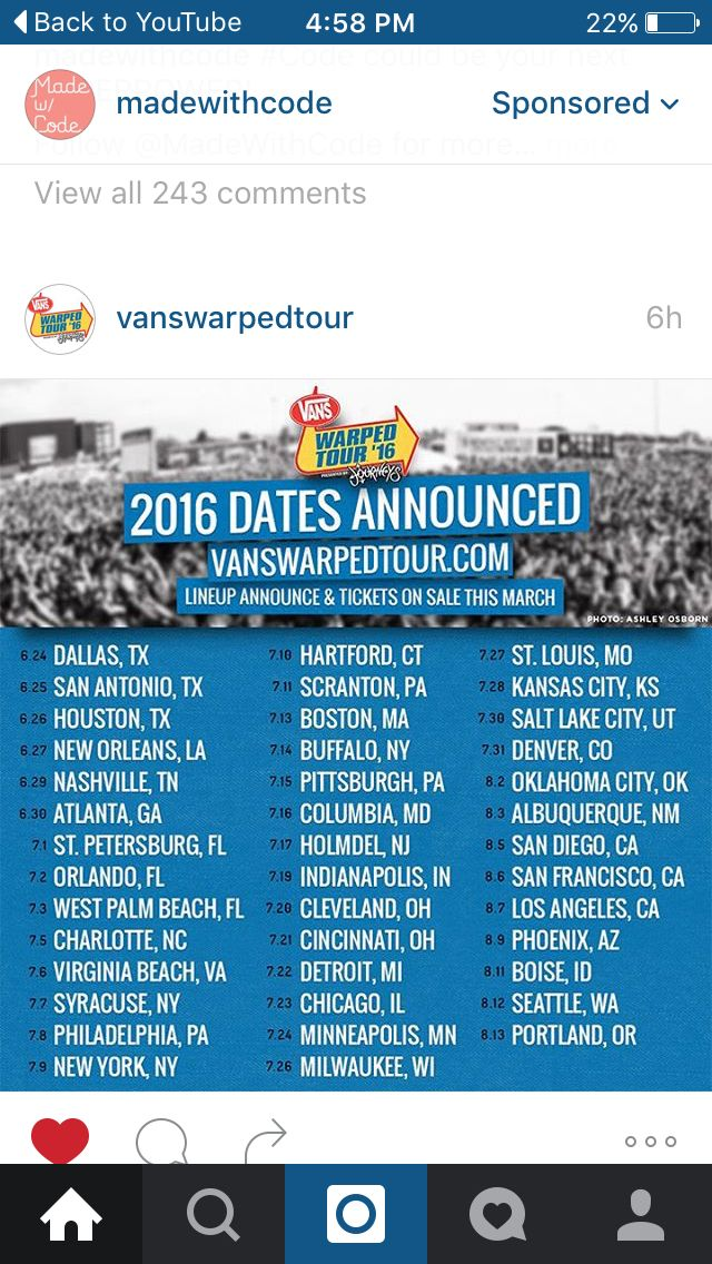 Yeah Warped Tour 2016
