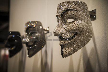 Srebrna Maska Nowoczesne art Begin 2014 ARCO Mi dzynarodowe Targi Sztuki Wsp czesnej w Madrycie Hisz Zdjęcie Seryjne