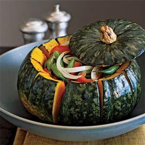 Roasted Kabocha Squash Bowl with Autumn Vegetables | MyRecipes.com
