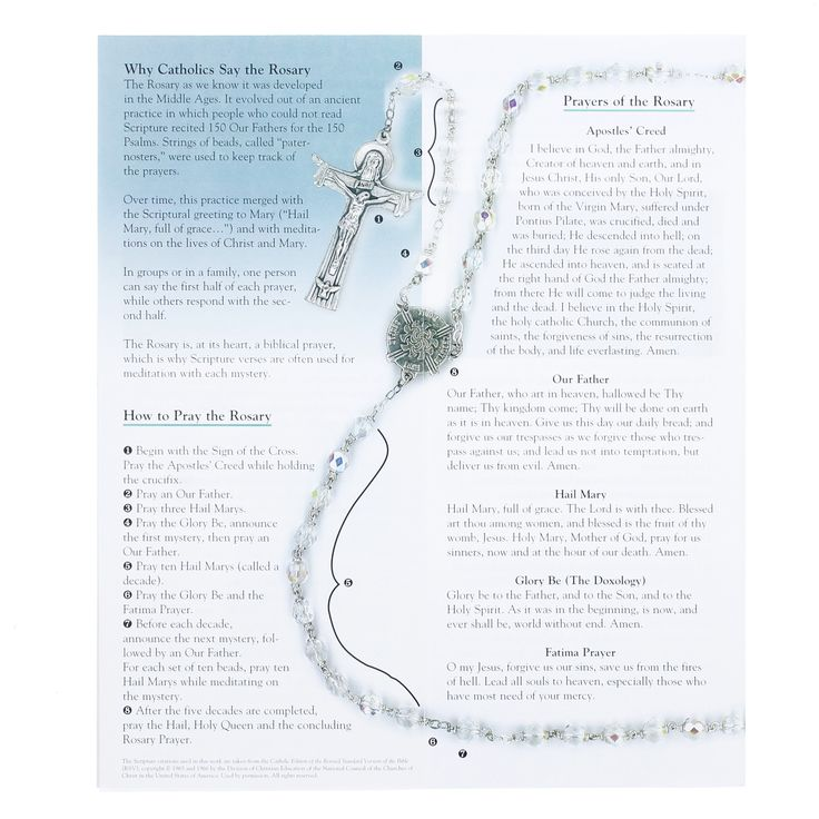 How to Pray the Rosary pamphlets. Rosary, Saying the rosary