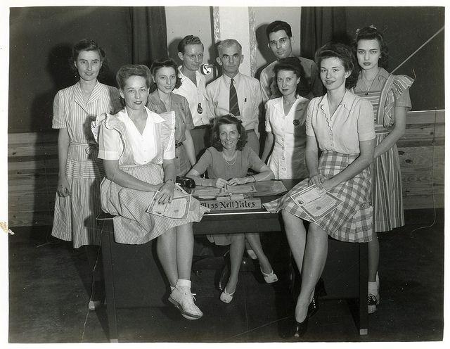 War Bond sellers,1943, Tyndall Field, Florida.