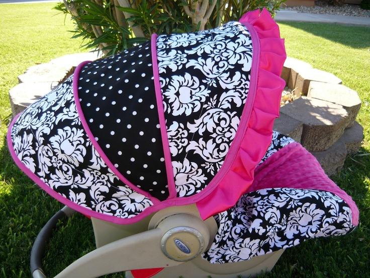 Beautiful infant car seat cover I love!