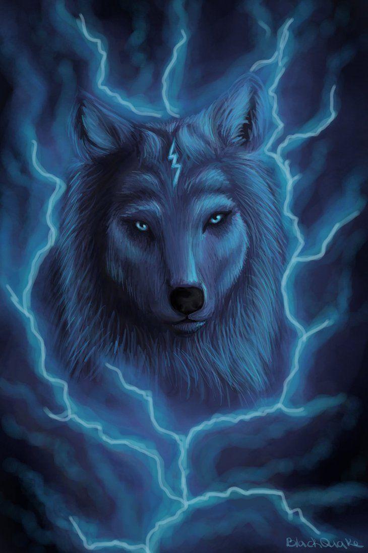 Thunder wolf by BlackQuake.deviantart.com on @DeviantArt