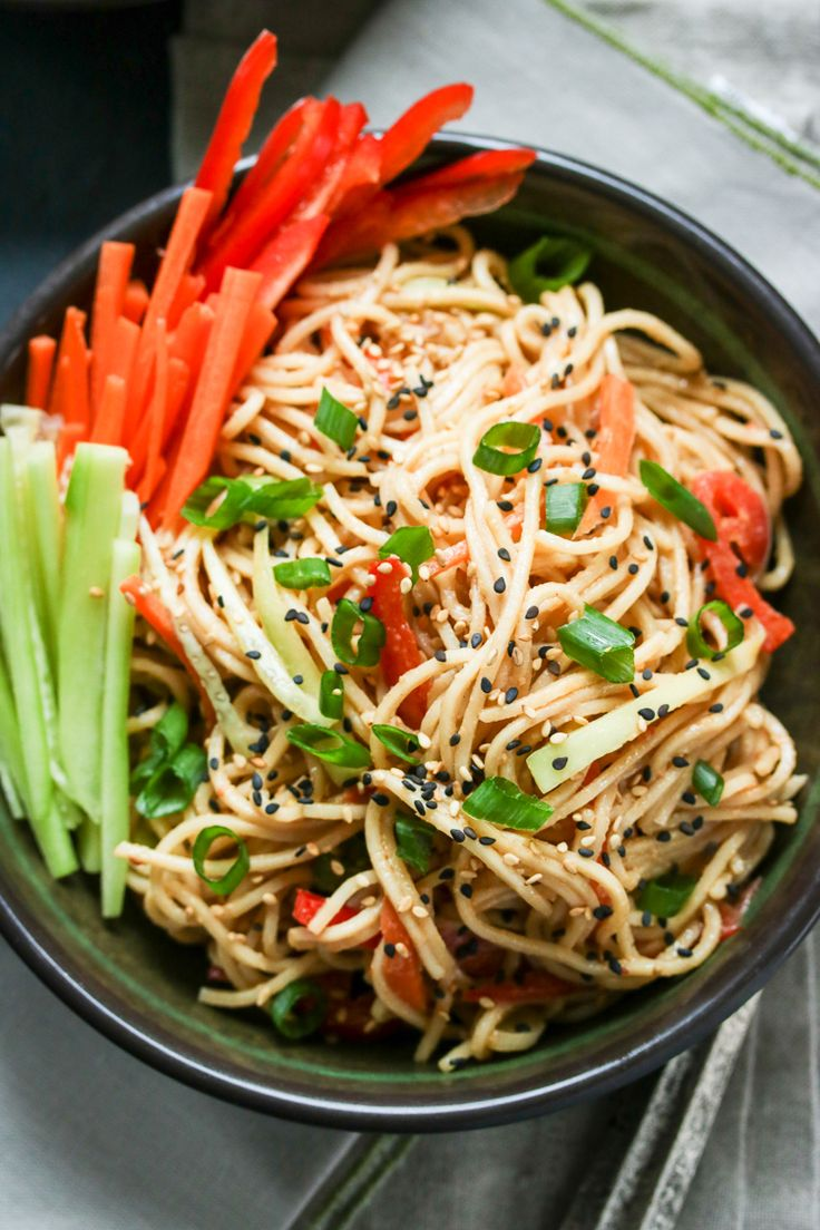 Get that perfect take-out taste at home with this easy cold sesame noodles recipe!