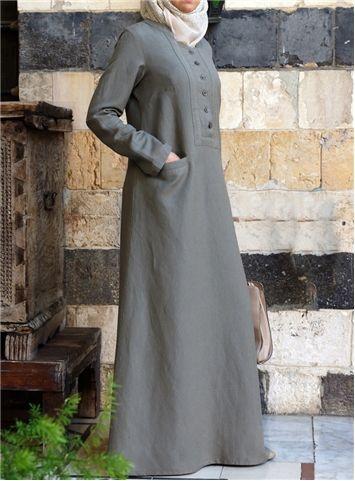 SHUKR International | Adila Linen Dress