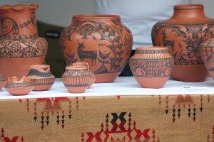 Santa Fe pottery- Indian Market