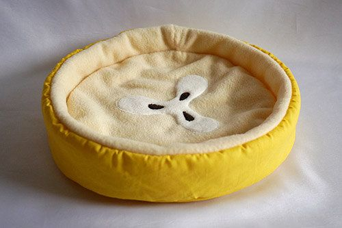 cosy cuddle bed banana for guinea pigs by TheCosyHut on Etsy