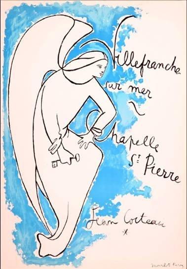 """""""La Chapelle Saint-Pierre à Villefranche-sur-mer 1958"""" JEAN COCTEAU"""
