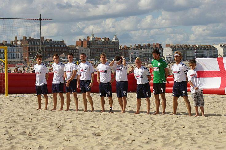 England beach team line up before a game