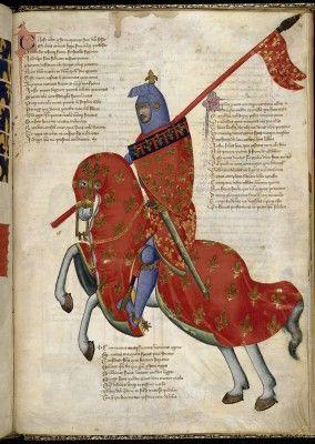 Рыцарь из Прато, средневековая итальянская миниатюра