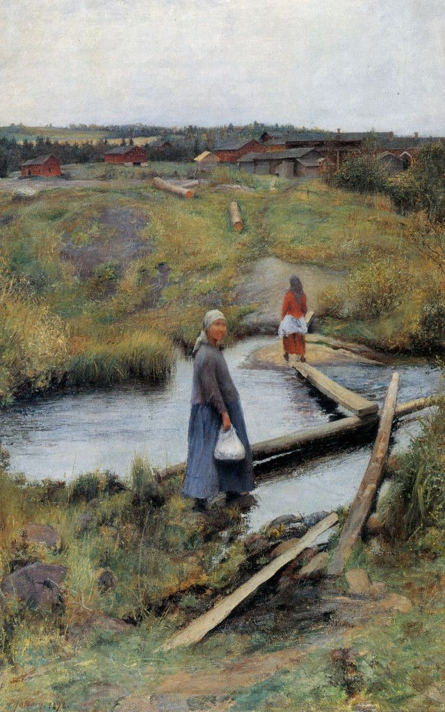 Pekka Halonen, Oijustie (The Short Cut), 1892, The Life and Art of Pekka Halonen…