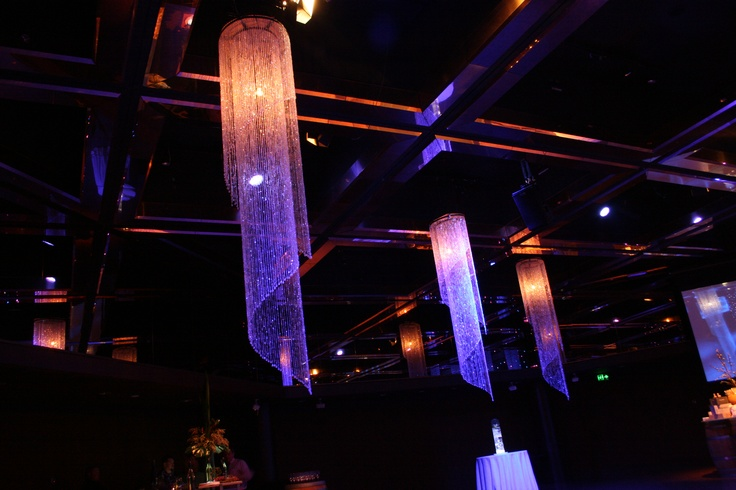Tall Crystal Chandeliers by Staging Connections at InterContinental Adelaide