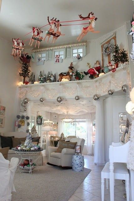 This is Awesome!! ♥ I need to suspend santa and his reindeer. OMG let the planning begin 18' up!