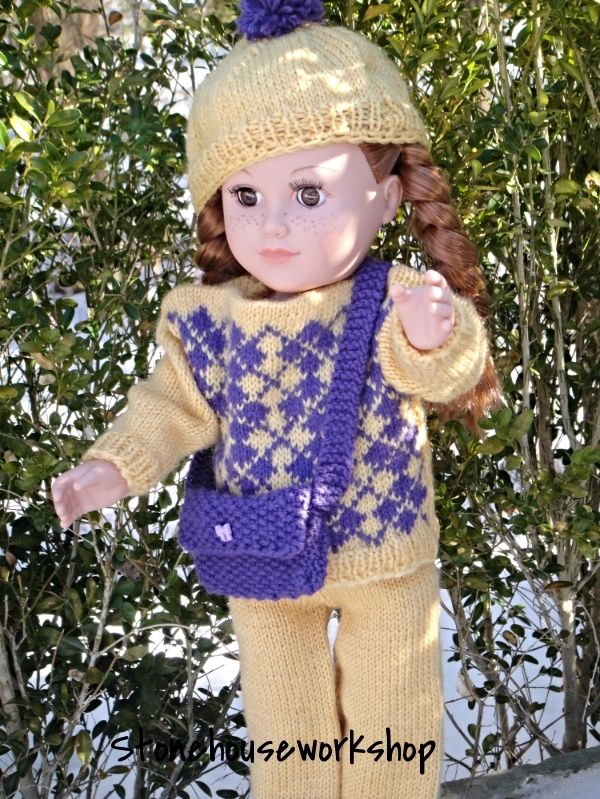 1192 best dolls clothes knit and crochet images on Pinterest ...