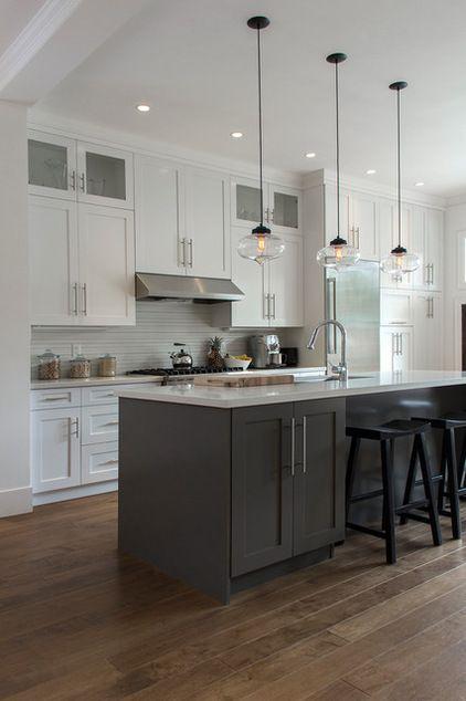 cozinha com tecto inclinado