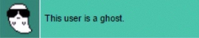 This user is a ghost.