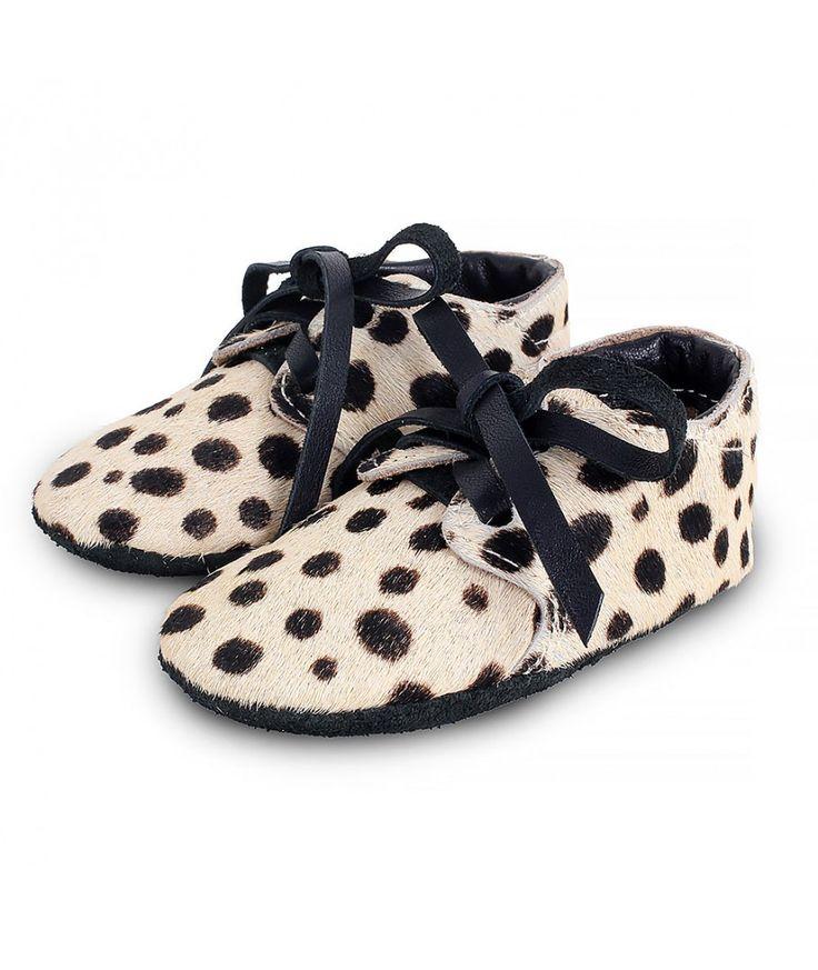 Donsje Shoes Safari Exclusive cow hair dalmatian black
