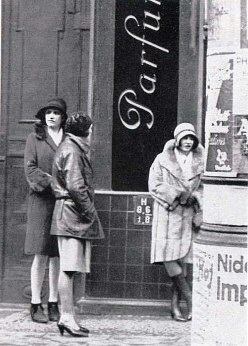 Streetwalkers in Weimar Berlin, 1920's.