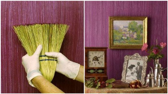 Creative DIY Textured Walls Using a Whisk Broom