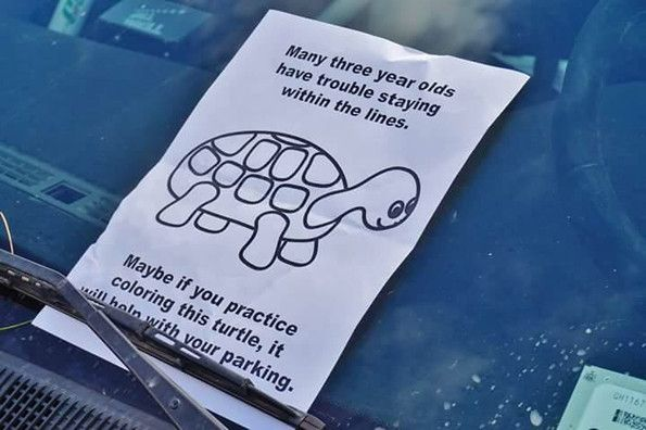 The Best Parking Note Ever