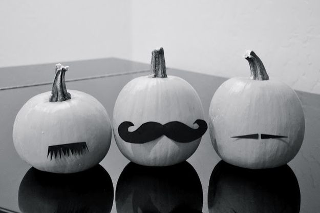 DIY - The Fake Moustache Pumpkin