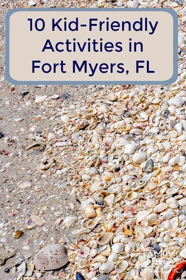 10 things to do in Fort Myers with kids including shell collecting and spring training.